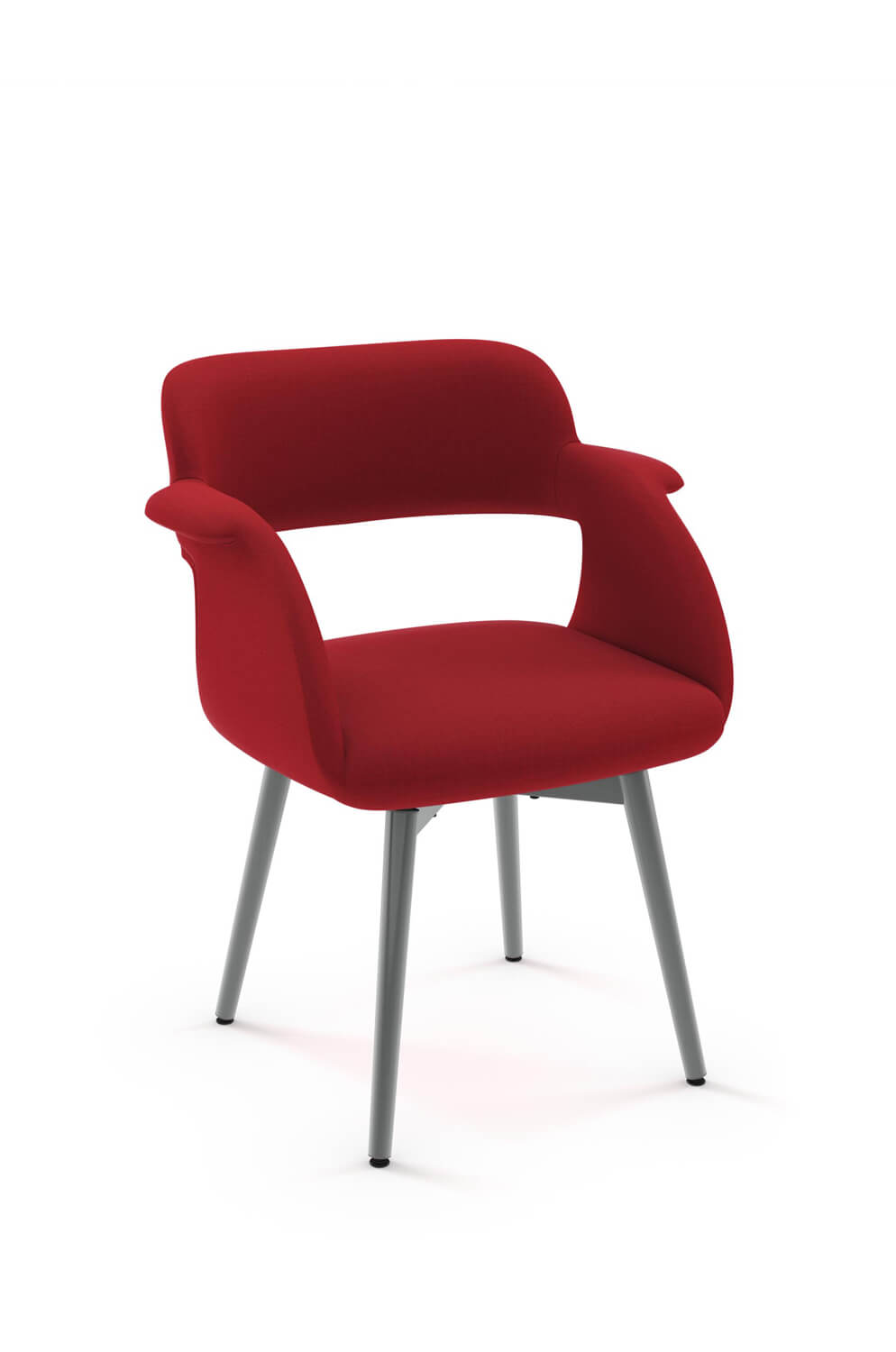 swivel upholstered chairs recover leather chair amisco s sorrento modern dining ships free with half arms and four metal legs