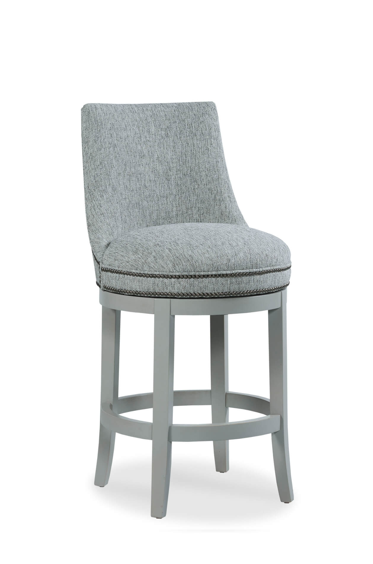 Upholstered Swivel Chairs Vesper Wooden Upholstered Swivel Stool