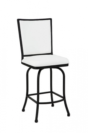 Morrison • Upholstered Luxury Iron Swivel Counter Stool in