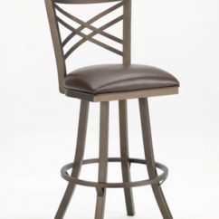 Ab Swivel Chair Luxury Directors Callee Rebecca Stool W/ Flared Legs & Cross Back - Free Shipping!