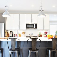 Modern Kitchen Bar Stools Ventilator Makeover Time W These For Island Ideas Bring An Industrial Twist To Your With Aluminum They Look Amazing In A More Contemporary Ambiance But You Can Also Put