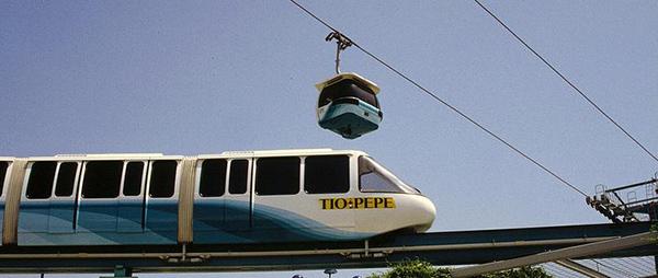 monorrail telecabina expo de sevilla 92