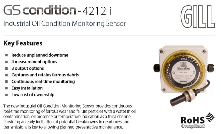 Real-time Oil Condition Monitoring with the GS condition-4212 i
