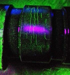 Close up of Iveco Camshaft under UV2