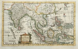 Antique Map of the East Indies by Bowen