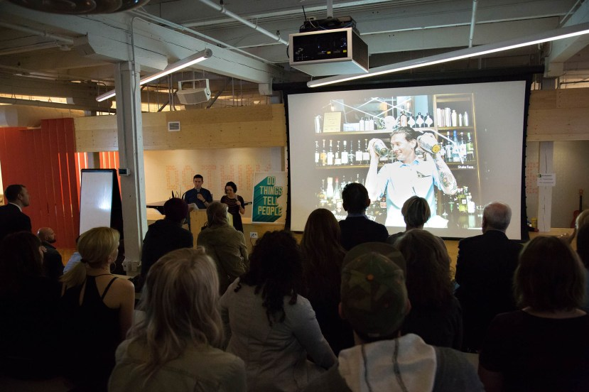 Our Pecha Kucha talk at Shopify, Toronto.