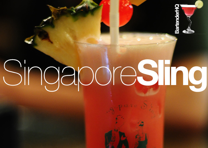 How to make a Singapore Sling Cocktail.