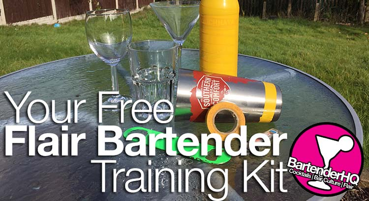 Your Free Flair Bartender Training Kit.