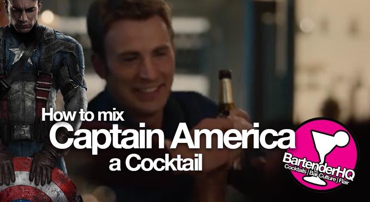 A Captain America Cocktail to re-live his youth.
