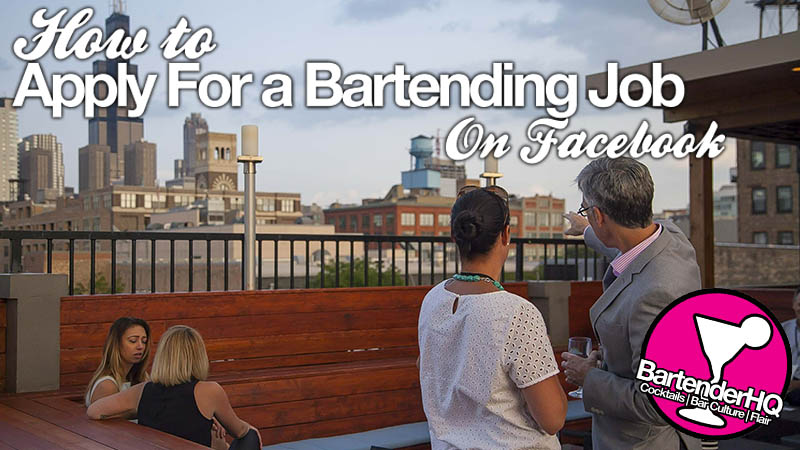 How to apply for a Bartending Job from a Facebook advert.