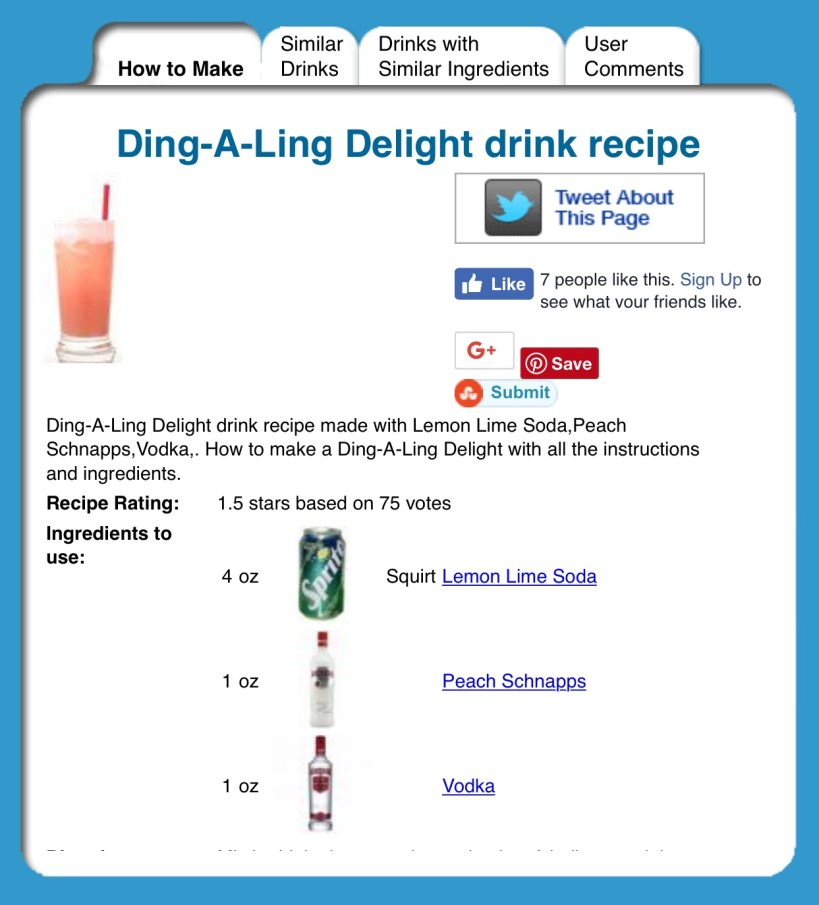 Ding-a-ling Delight Cocktail
