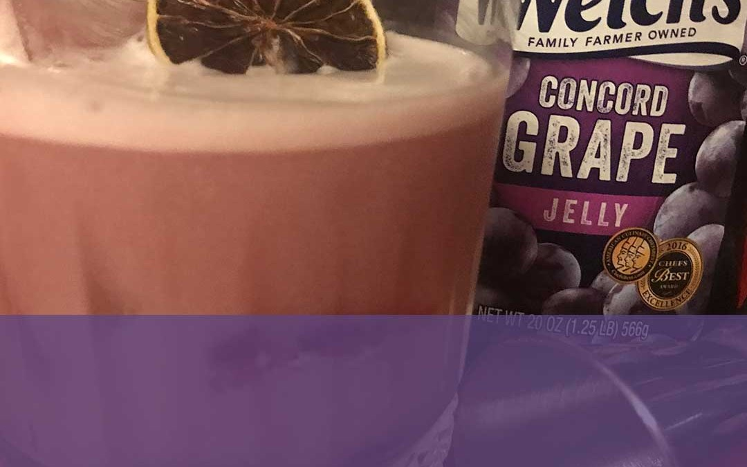 Grape Jelly Flip Cocktail Recipe