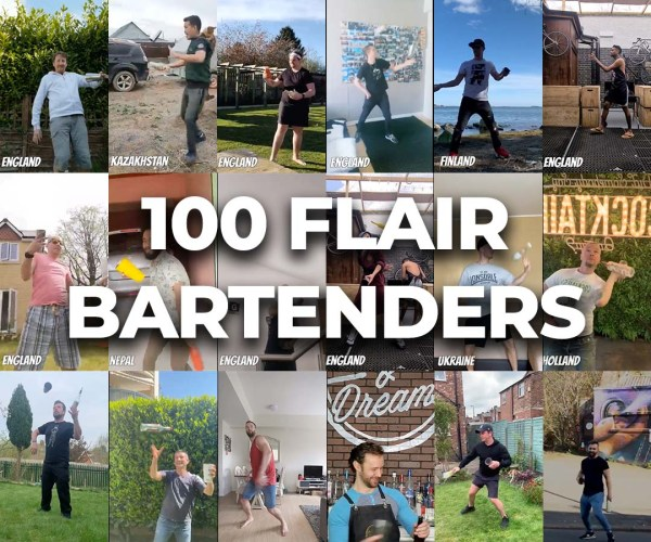 100 Flair Bartenders from 27 countries made this video.