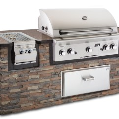 Outdoor Kitchen Bbq Island With Built In Seating