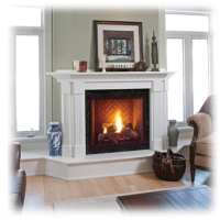 CORNER FIREPLACES: DIRECT VENT CORNER FIREPLACE FOR HOME