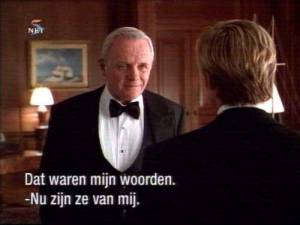 Anthony Hopkins in de film De rest van de dag