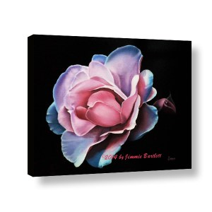Blue Tipped Rose 3d Web