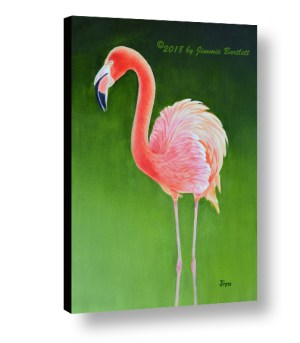 Gracefull Flamingo on canvas print