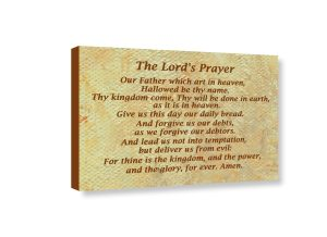 The Lords Prayer canvas print view
