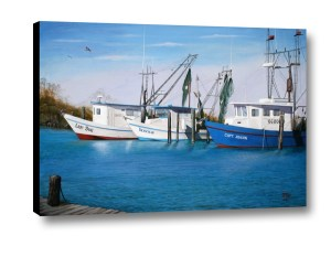 Matagorda Boats 3D by Jimmie Bartlett