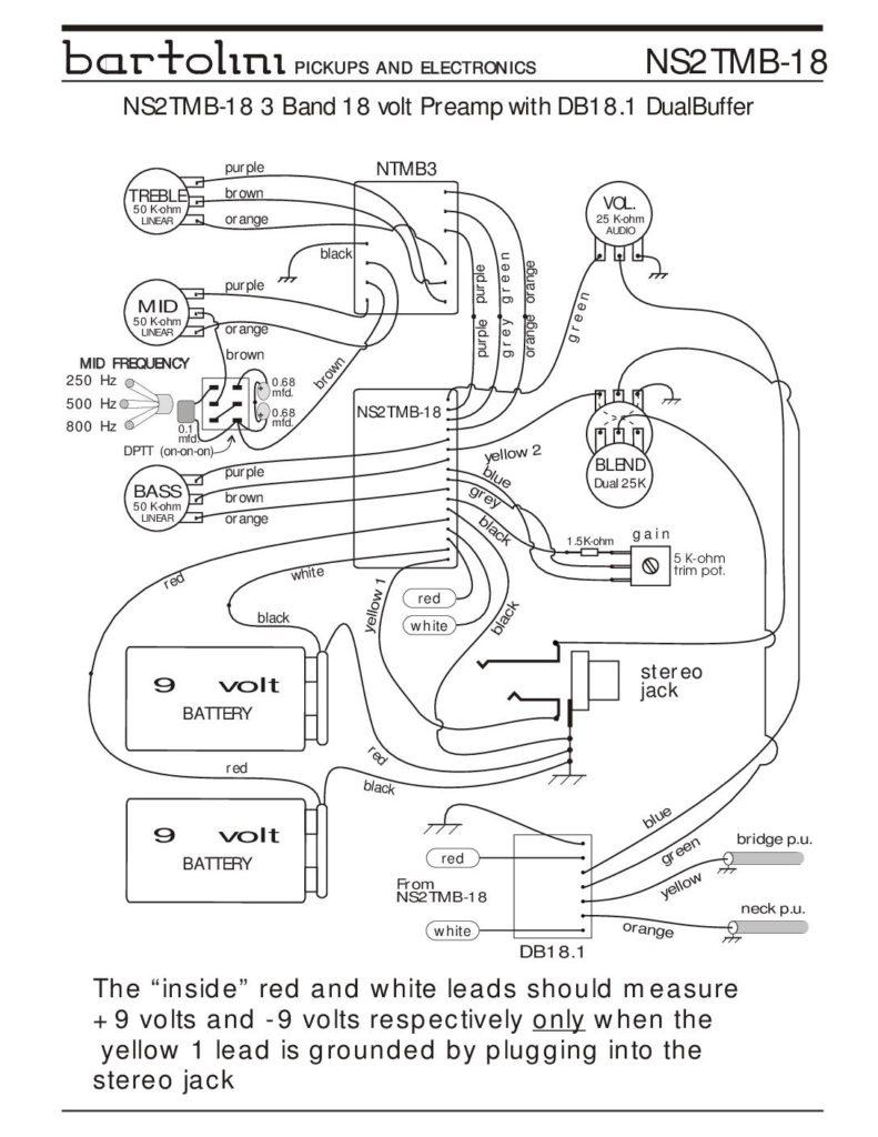 Fender Jazz Bass Pickup Wiring Diagram