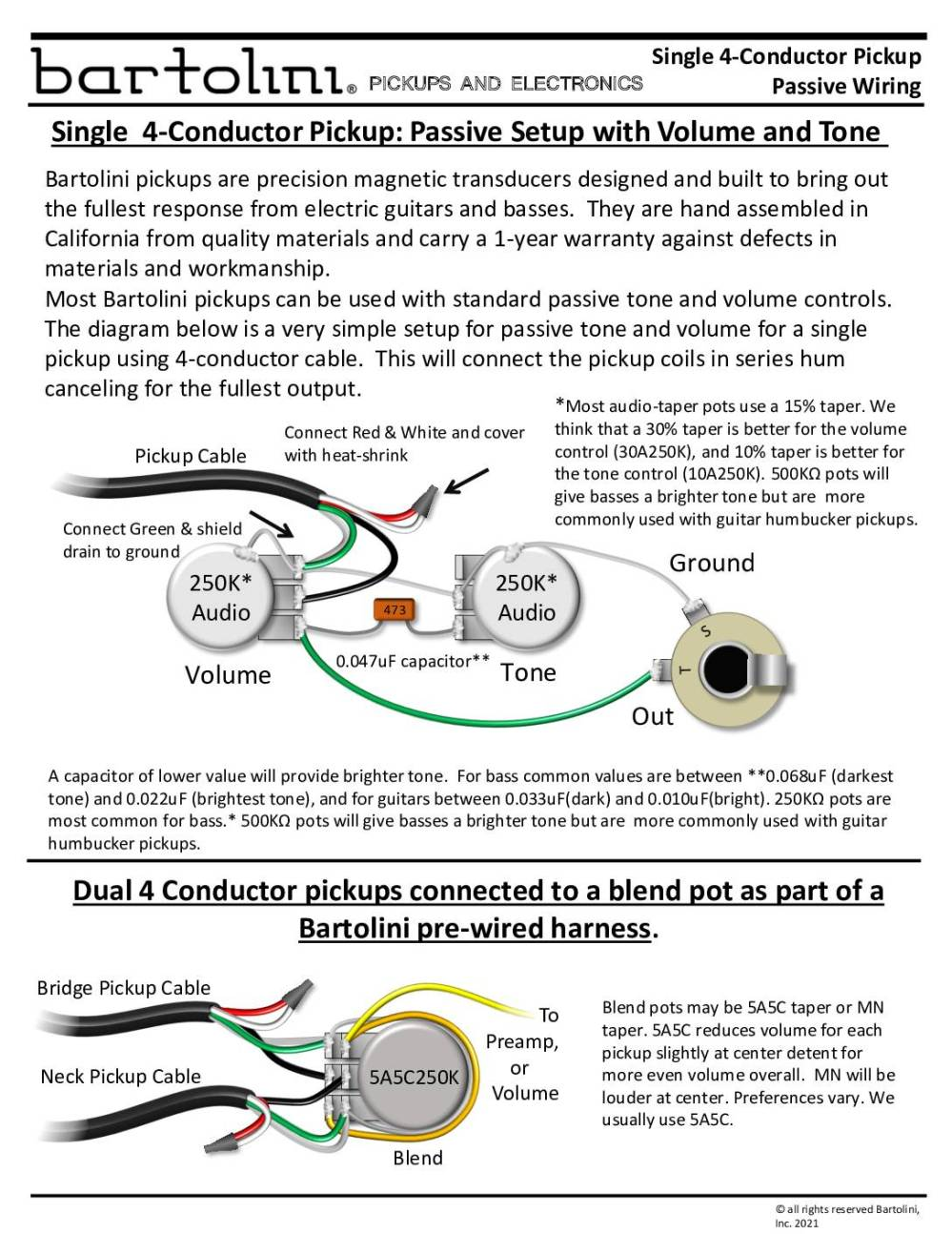 medium resolution of pickup wiring 4 conductor