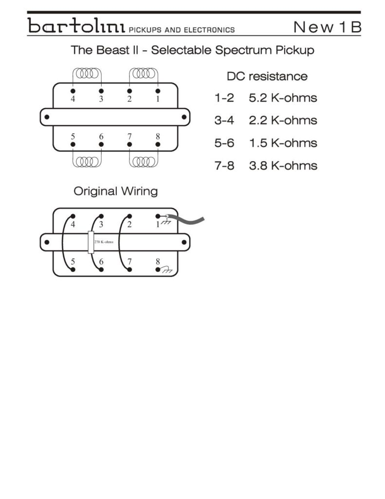 medium resolution of 1b beast ii pickup wiring info
