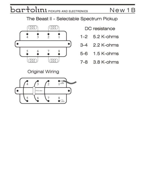 small resolution of 1b beast ii pickup wiring info