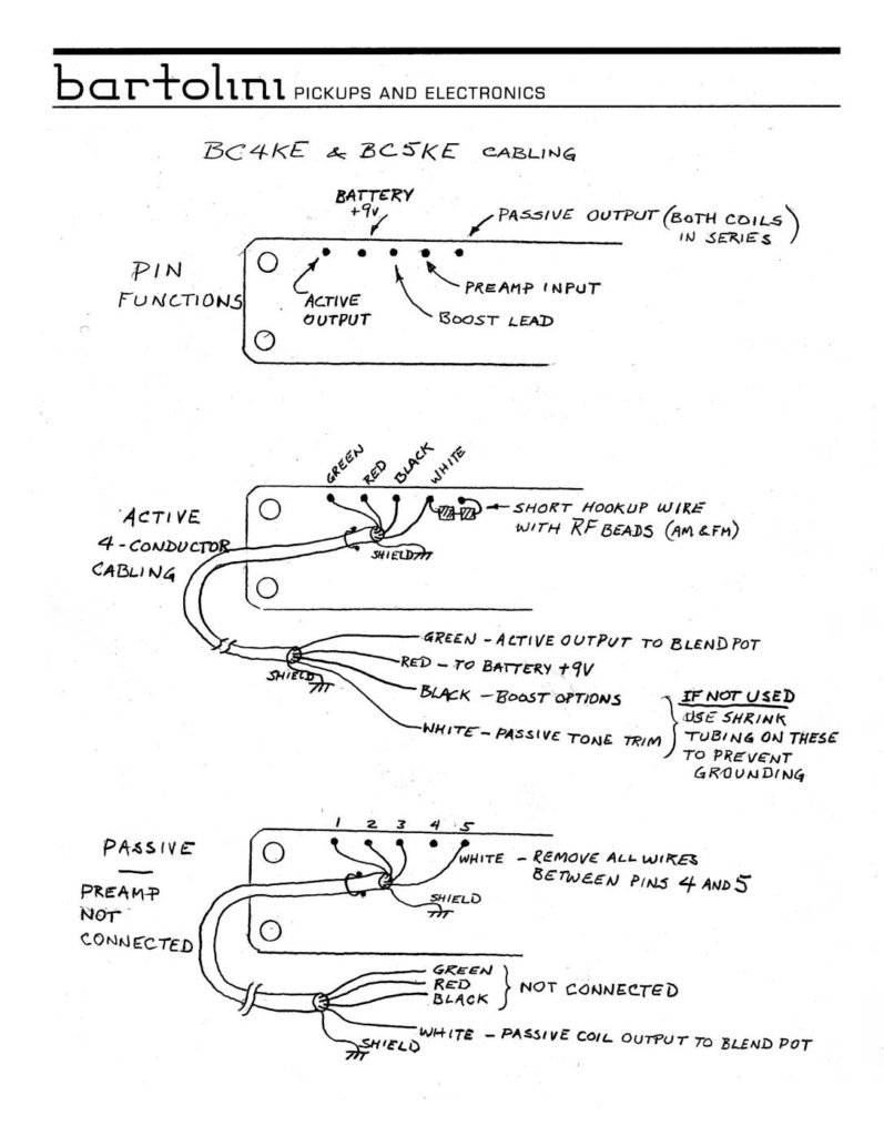 medium resolution of ke active pickups wiring