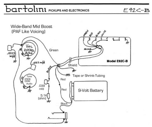 small resolution of e92 active humbucker wiring