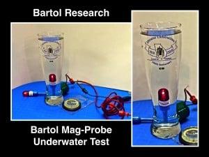 Bartol Mag-Probe Underwater Test Lithium Battery Sealed Inside
