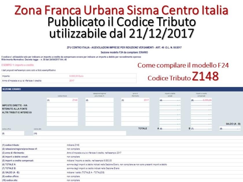 Zfu sisma centro italia come utilizzare il credito d for Scadenzario fiscale 2017