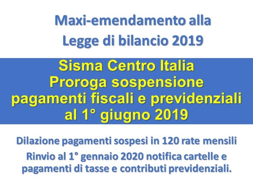 Calendario Fiscale 2020.Sisma Centro Italia Proroga Dei Termini Per Il Pagamento Di