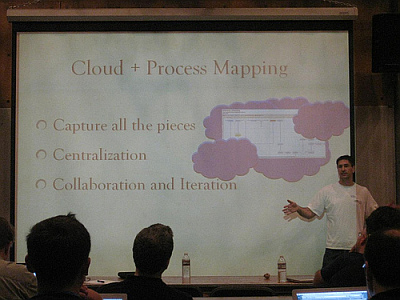 My lightening talk: Mapping Processes in the Cloud (credit: Dave Nielsen)