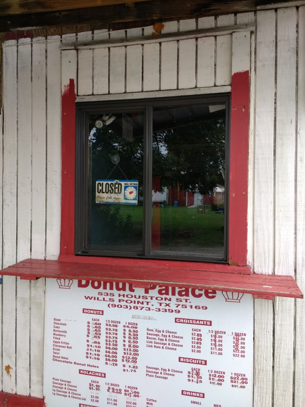 Donut Palace Drive-Thru Window Replacement