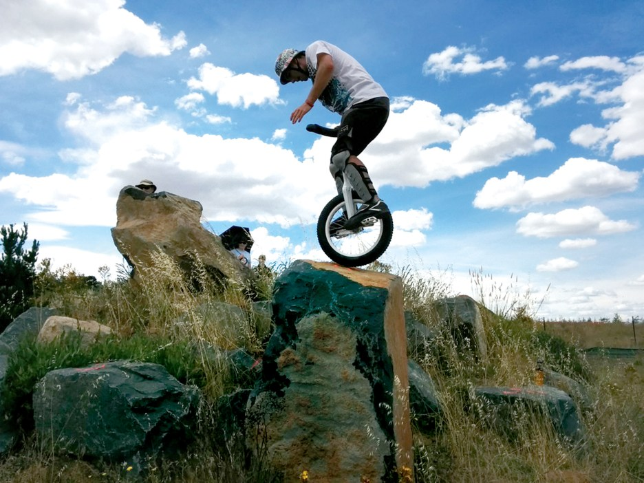 Barton Haynes CA Unicycle Stunt