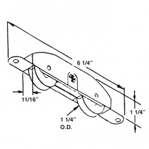 #10808- 1-1/4 in. Stainless Steel Patio Door Tandem Roller