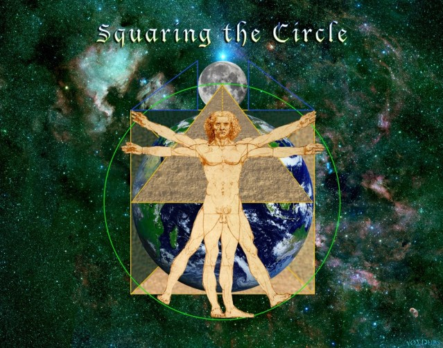 VItruvian-Man-Square-Circle-Green