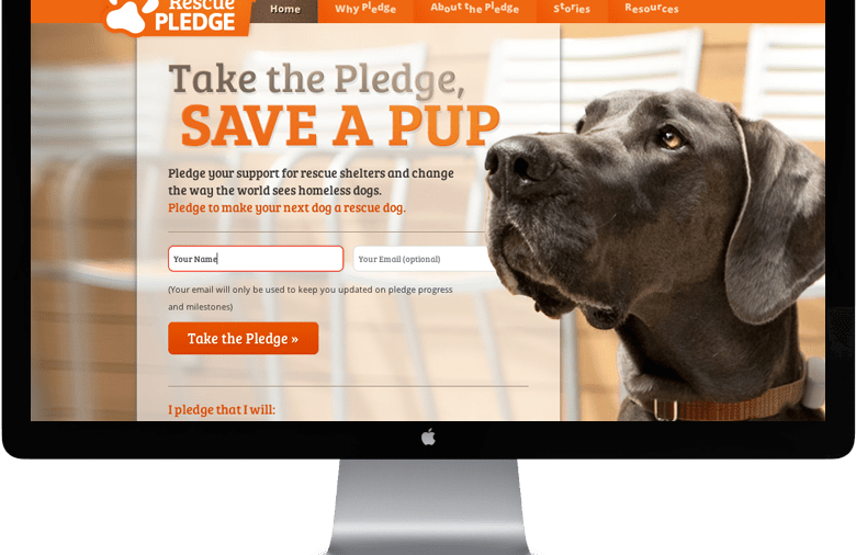 Take the pledge to support pet rescue!