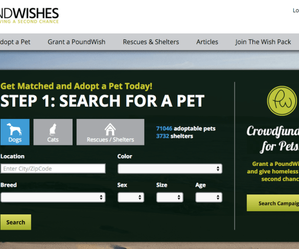 PoundWishes.com  provides crowdfunding for pet rescues.