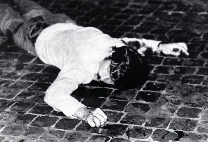 Antonio Lo Muscio appena giustiziato