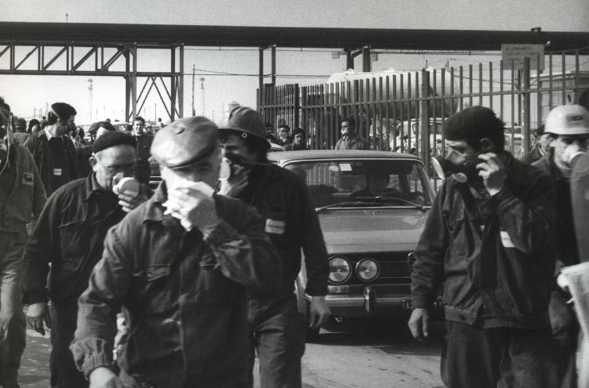Italia, operai Montedison 1969