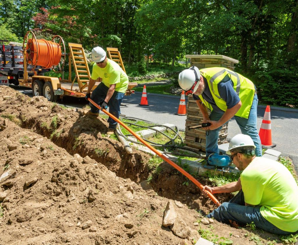 Project Management Underground Coaxial Fiber Construction Trench