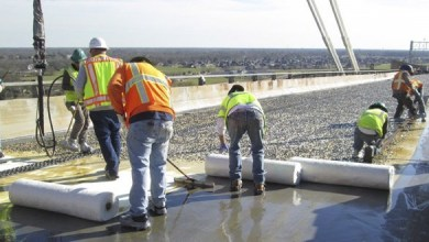 Photo of Fiber-reinforced plastic strengthens a bridge over the Mississippi