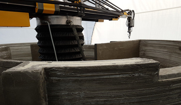 3D construction printer Apis Cor demonstrated its work