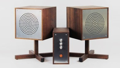 Photo of Designer from Sweden used basalt composite in his vintage HiFi system