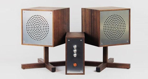 Designer from Sweden used basalt composite in his vintage HiFi system