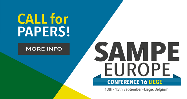 The conference SAMPE Europe 2016 to be held in Liège (Belgium) from 13 – 15 September