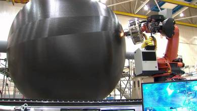 Photo of Manufacturing A Large Composite Rocket Fuel Tank