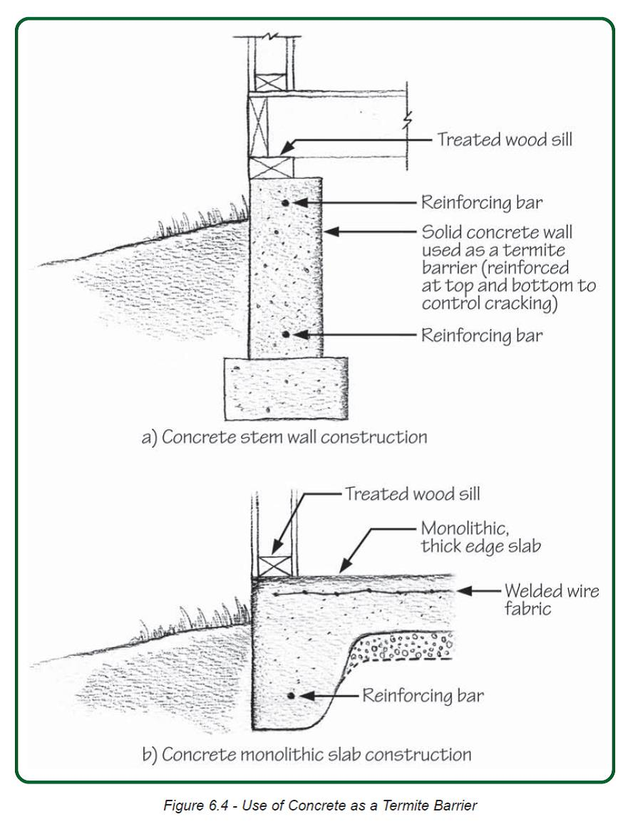 medium resolution of reinforce concrete slab and foundation walls to minimize future cracks that could let in pests